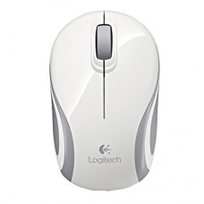 Logitech Wireless Mini Mouse M187 White-Silver (910-002740)