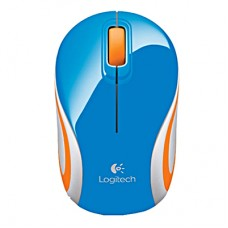 Logitech Wireless Mini Mouse M187 Blue-Orange (910-002738)